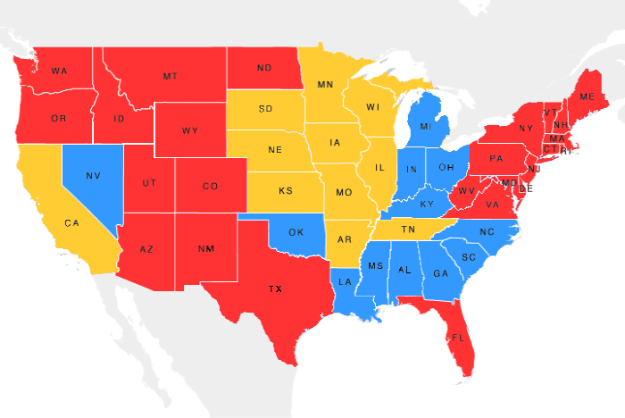 Carrier Depot :: Truckload Price Variance Maps